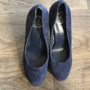 Jessica Simpson blue suede pumps excl cond